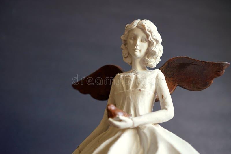Vintage angel of peace stock image