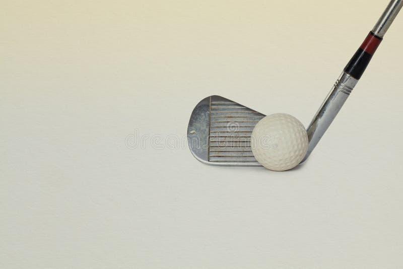 Vintage, antique golf driver stock photography