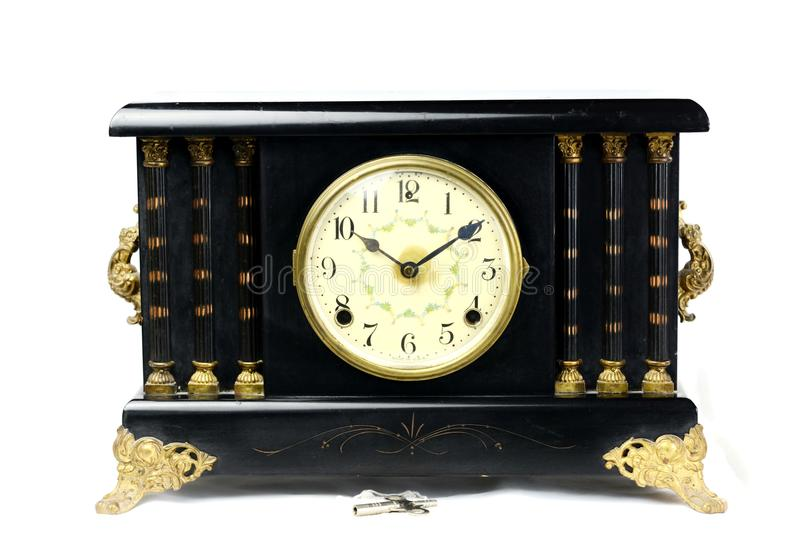 Vintage Antique Mantle Clock 2 royalty free stock photography