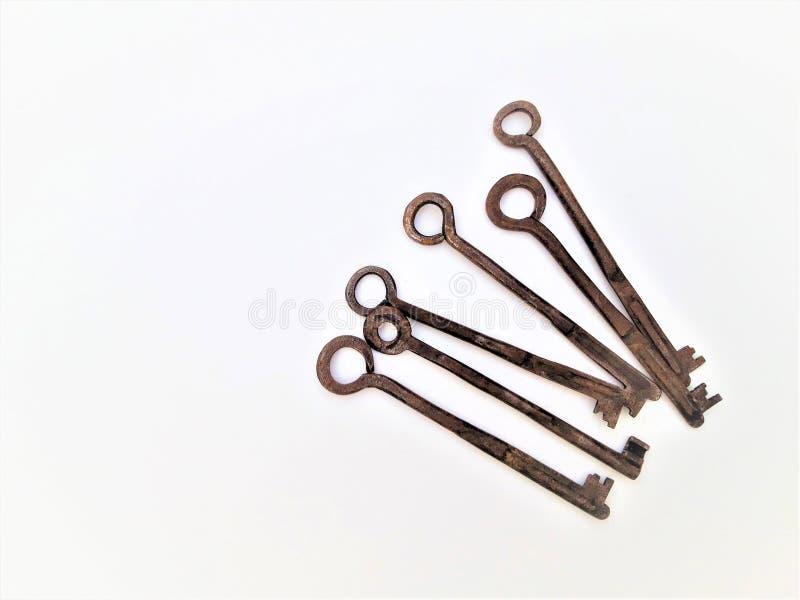 Vintage Antique Old Keys stock images