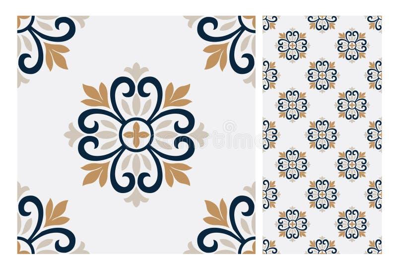 Vintage antique seamless design patterns tiles in Vector illustration vector illustration
