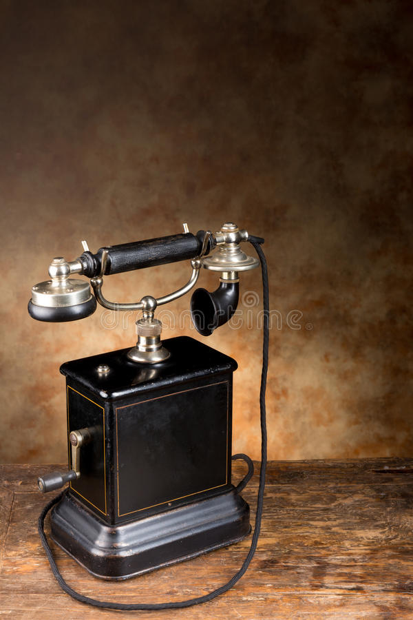 Vintage or antique telephone stock photos