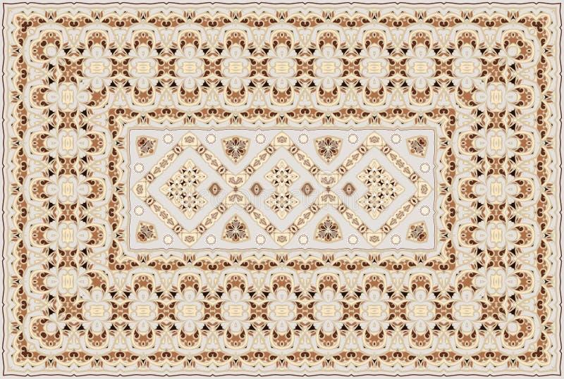 Persian colored carpet. Vintage Arabic pattern. Persian colored carpet. Rich ornament for fabric design, handmade, interior decoration, textiles vector illustration