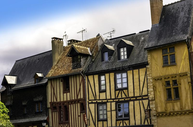 Vintage architecture of Old Town in Le Mans, France. Vintage architecture of Old Town in Le Mans, Maine, France stock photography