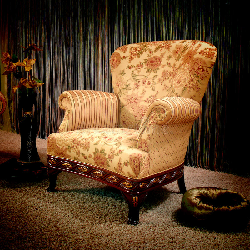 Download Vintage armchair stock image. Image of fashionable, ancient - 17368601