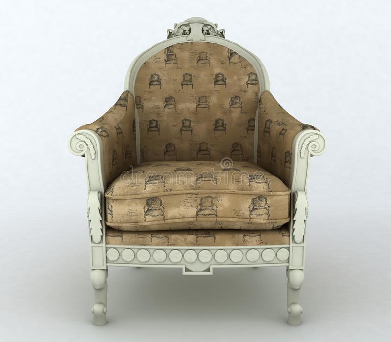 Vintage armchair royalty free stock images