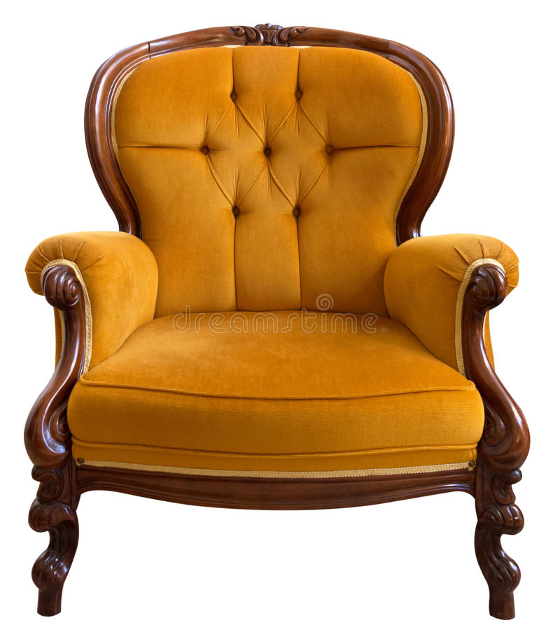 Captivating Download Vintage Armchair Stock Image. Image Of Elegance, Orange   35985239