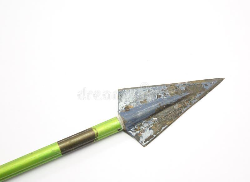 Vintage arrow and broadhead. royalty free stock photo