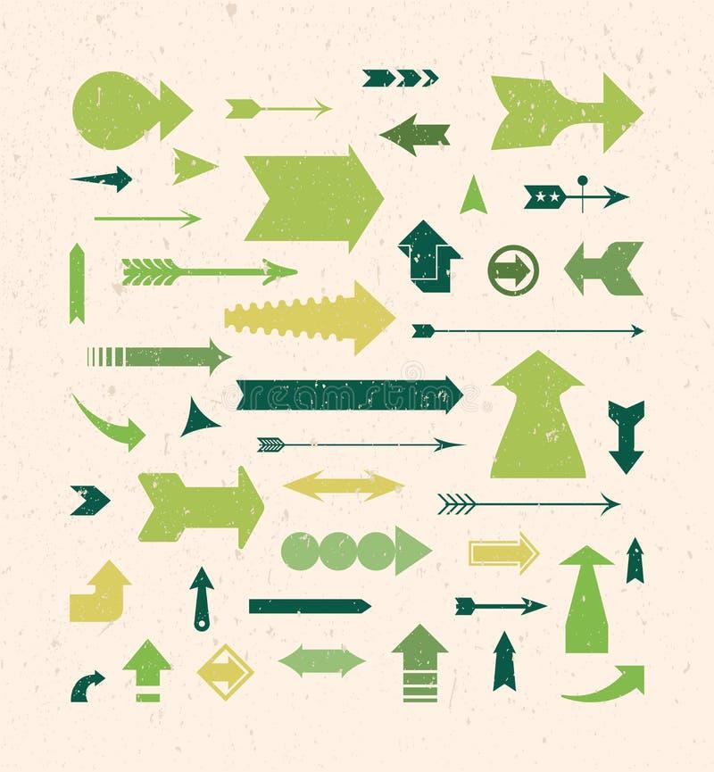 Download Vintage Arrows Collection stock vector. Illustration of below - 20047963