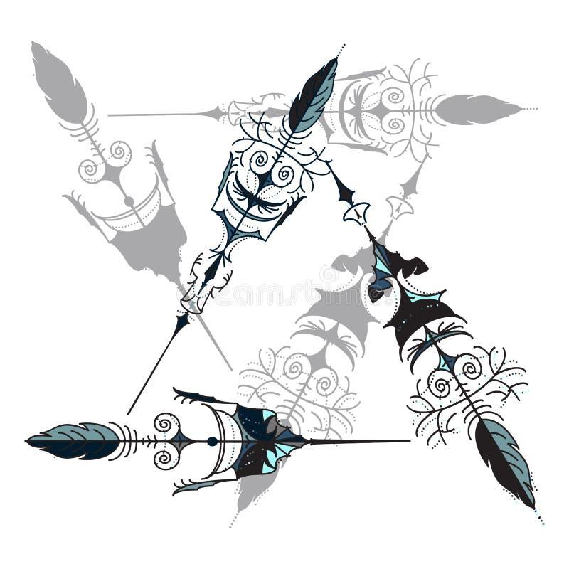 Vintage arrows royalty free illustration