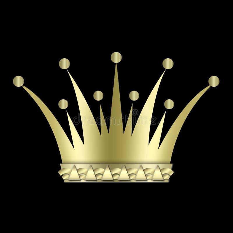 Download Vintage art deco Crown stock illustration. Image of background - 4284378