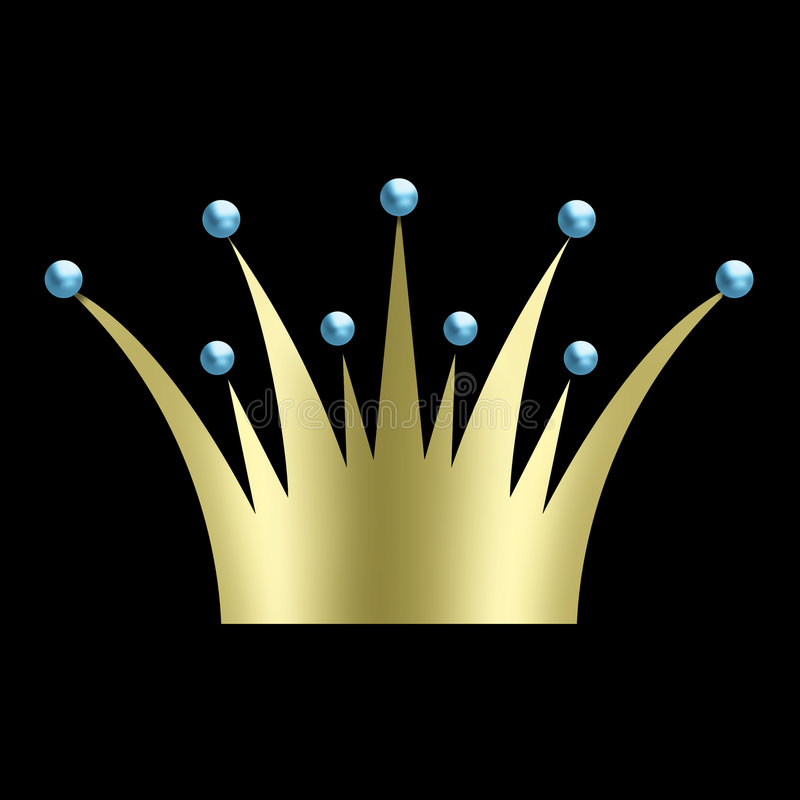 Vintage art deco Crown royalty free stock image