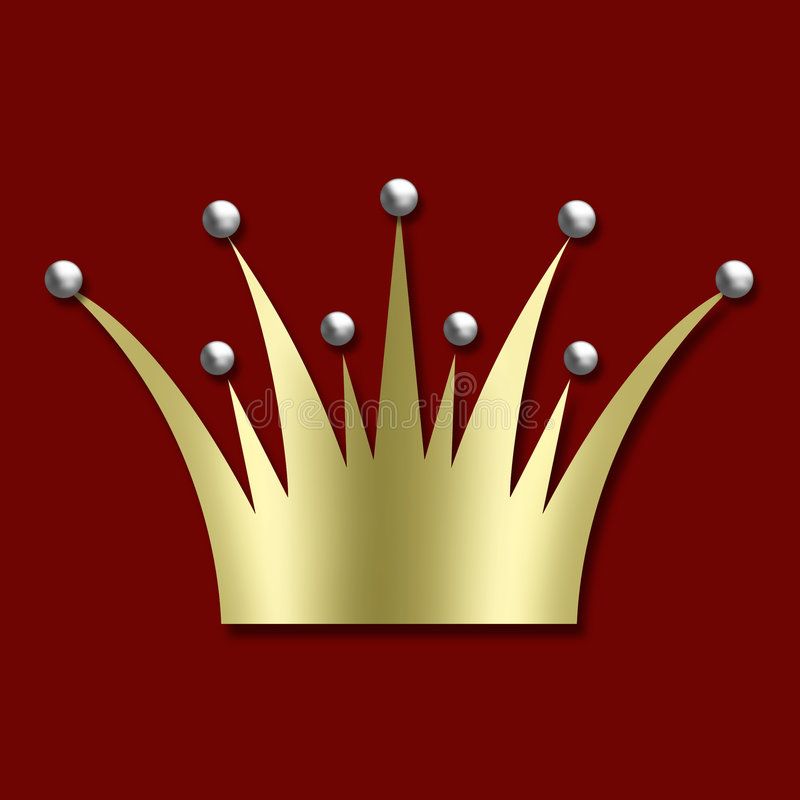 Vintage art deco Crown royalty free stock photos