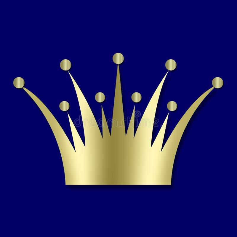 Vintage art deco Crown stock images