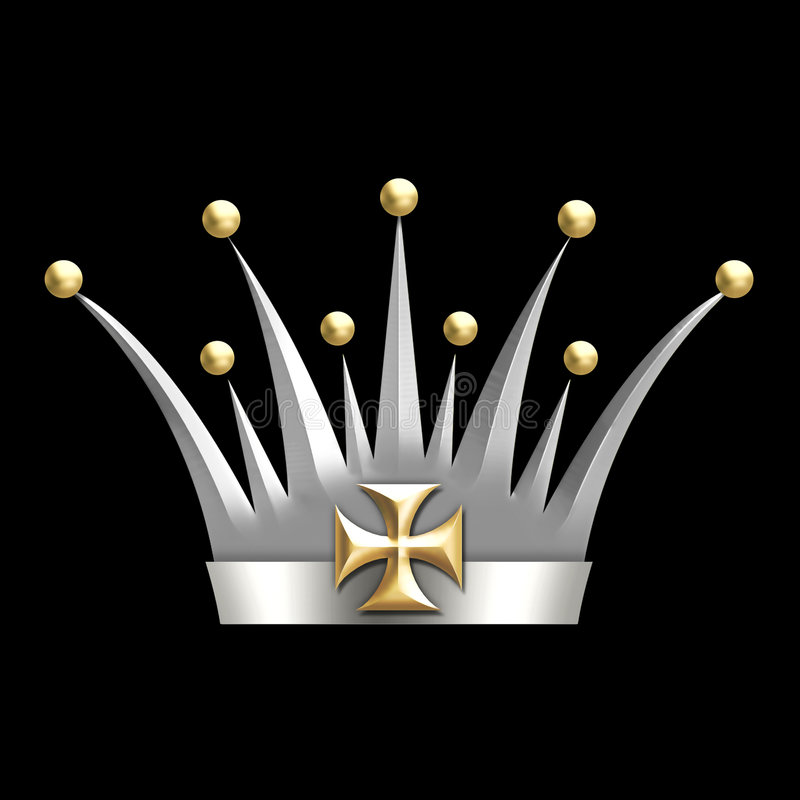 Vintage art deco Crown royalty free stock photography