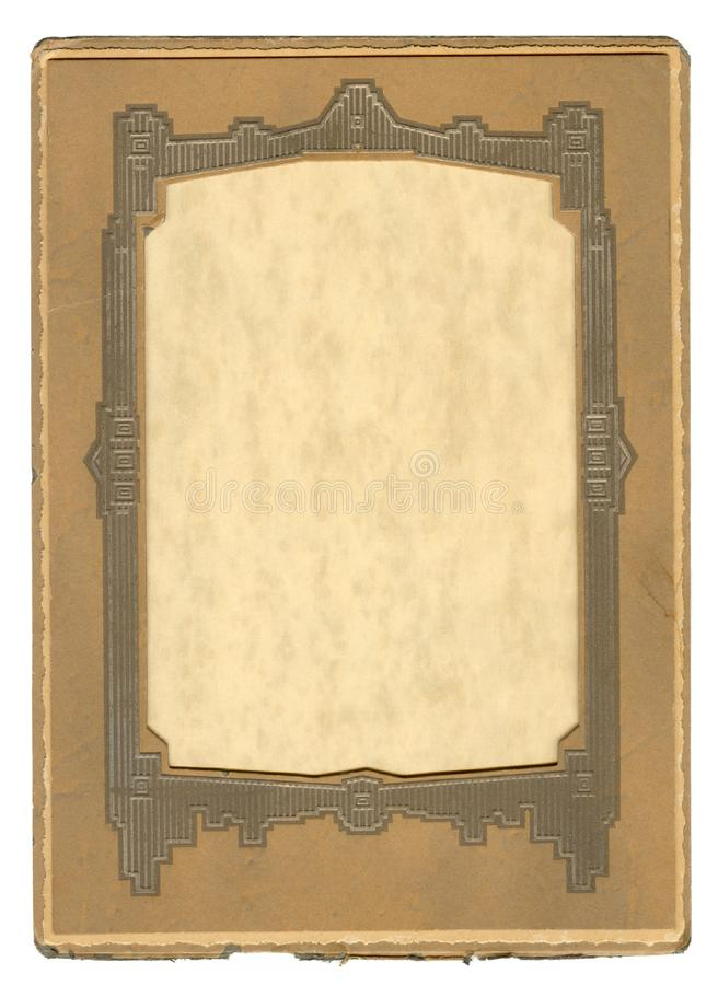 Vintage Art Deco Frame stock photo