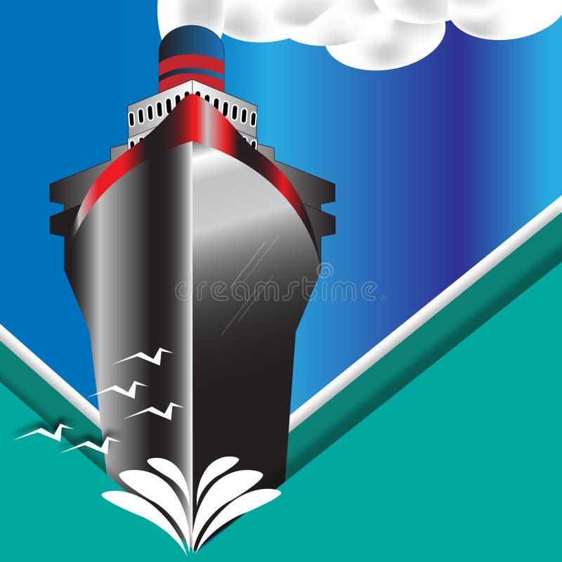Vintage Art Deco Ocean Liner Poster libre illustration