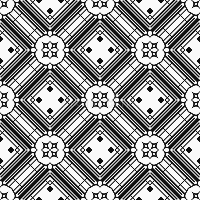 Vintage Art Deco Pattern. Abstract Art Deco Tiles Seamless Vector Pattern. Geometric texture. Repeating background stock photos