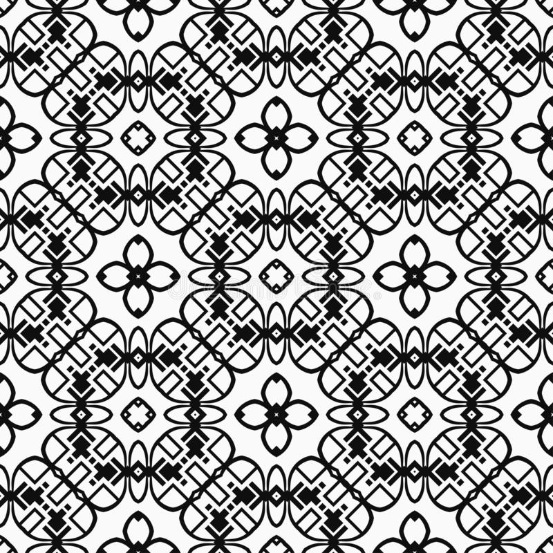 Vintage Art Deco Pattern. Abstract Art Deco Tiles Seamless Vector Pattern. Geometric texture. Repeating background stock image