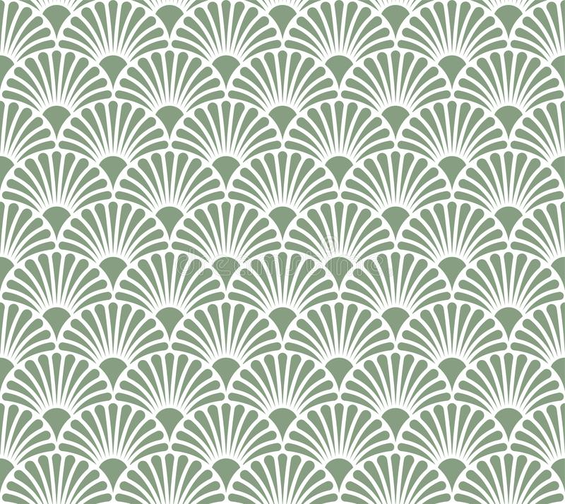 Vintage Art Deco Seamless Pattern floral Textura decorativa geométrica ilustración del vector