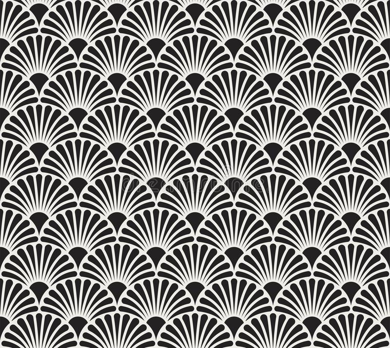 Vintage Art Deco Seamless Pattern floral Texture décorative géométrique illustration stock