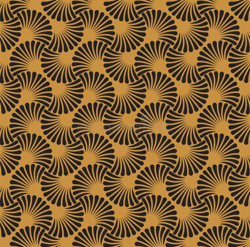 Vintage Art Deco Seamless Pattern floral Texture décorative géométrique illustration libre de droits