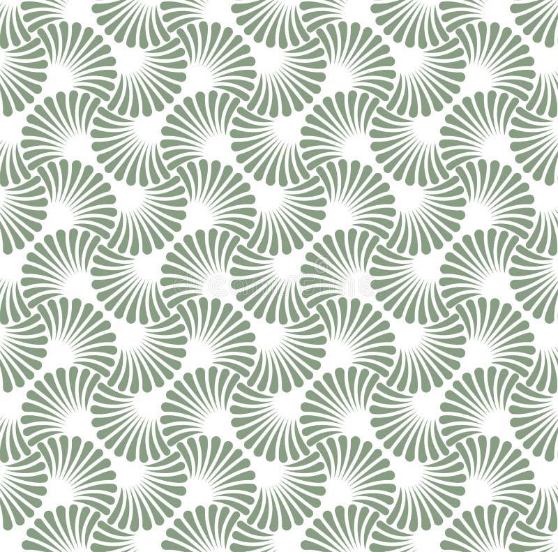 Vintage Art Deco Seamless Pattern floral Texture décorative géométrique illustration stock