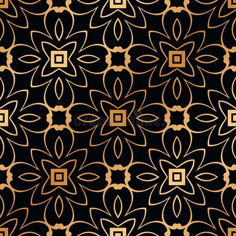 Art Deco Seamless Pattern. Vintage Art Deco Seamless Pattern. Geometric decorative texture stock photography