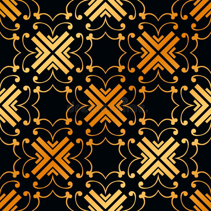 Art Deco Seamless Pattern. Vintage Art Deco Seamless Pattern. Geometric decorative texture royalty free stock photo