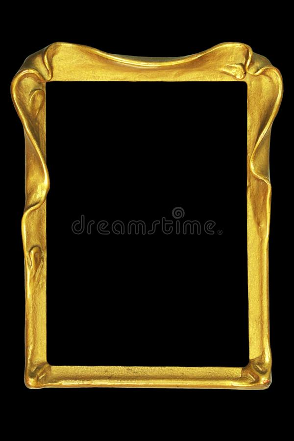 Vintage art nouveau picture or mirror frame. Vintage art nouveau design picture or mirror frame royalty free stock photography