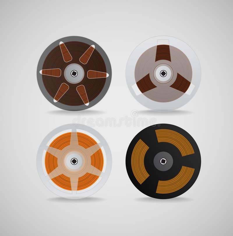 Download Vintage audio cassettes stock vector. Image of film, entertainment - 25399346