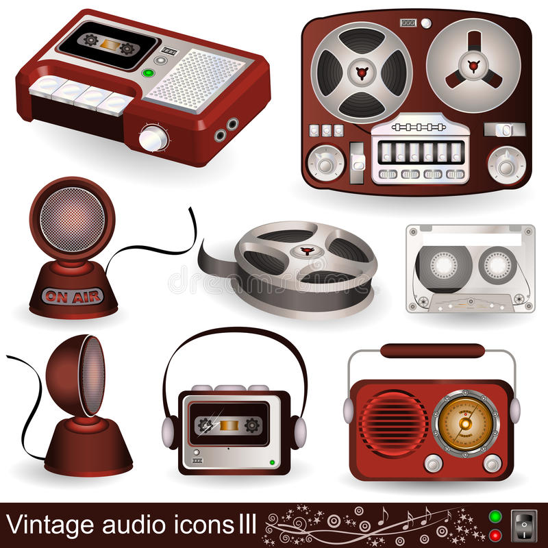 Free Vintage Audio Icons 3 Stock Photos - 26112963