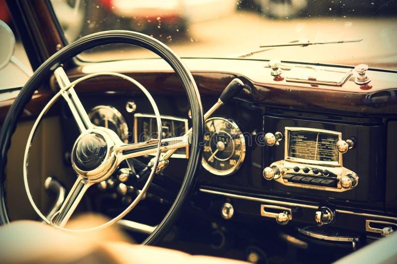 Vintage auto interior stock photos
