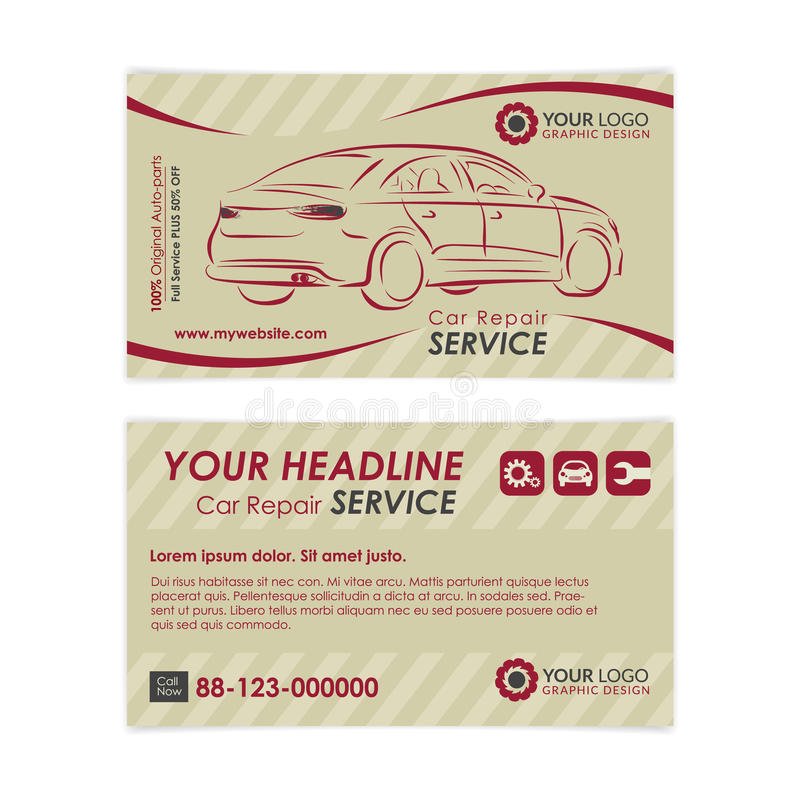 Vintage auto repair business card template create your own business download vintage auto repair business card template create your own business cards stock vector reheart Choice Image