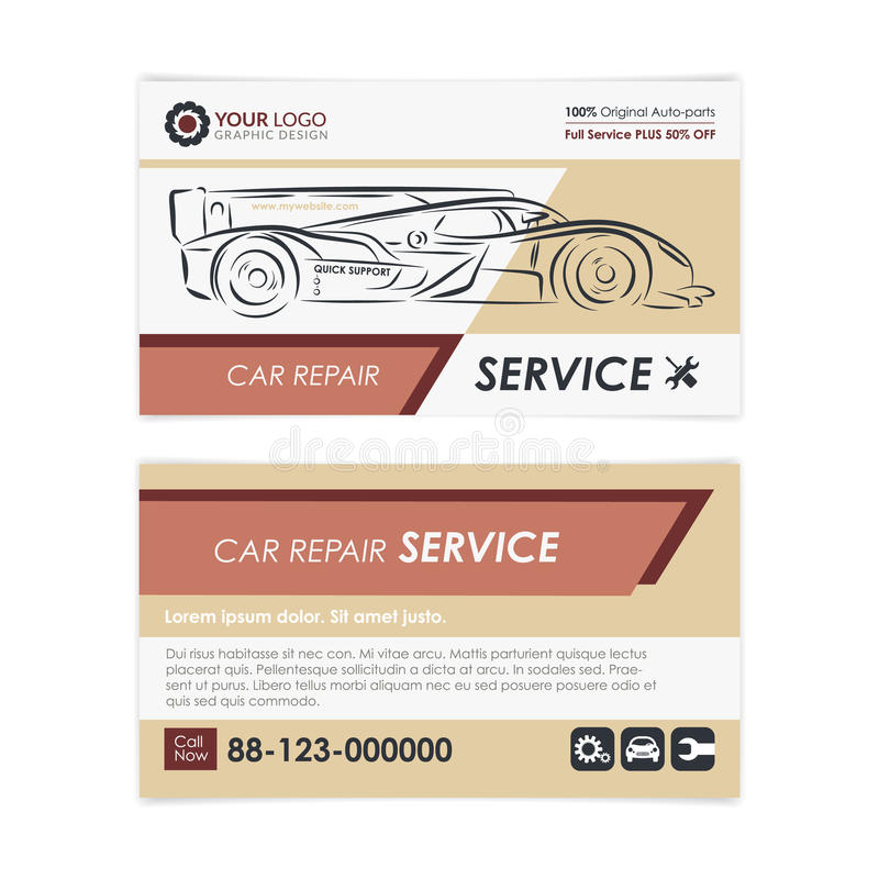 Vintage Auto Repair Business Card Template. Create Your Own Business ...
