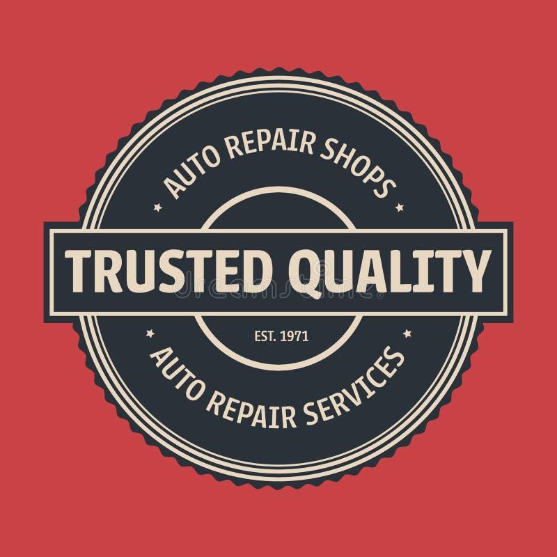 Free Vintage Auto Service Label, Badge Stock Photo - 104173880