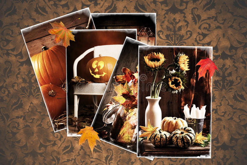 Download Vintage Autumn Postcards Stock Photo Image Of Nature