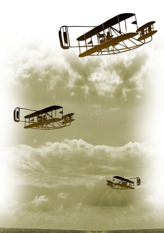 Vintage aviation vector illustration