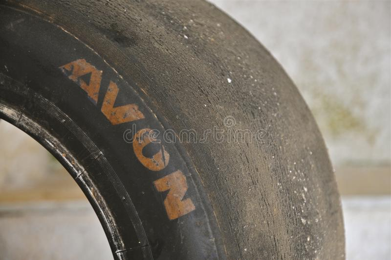 Vintage Avon que compete o pneumático fotos de stock royalty free