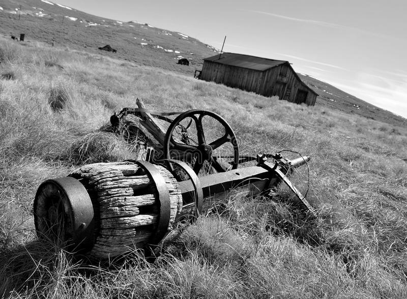 Download Vintage Axle in Ghost Town stock image. Image of framed - 12210881