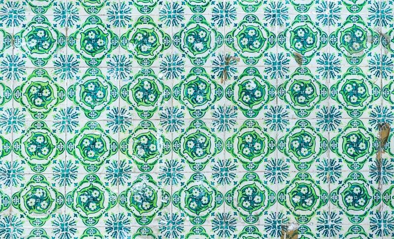 Vintage azulejos, traditional Portuguese tiles vector illustration