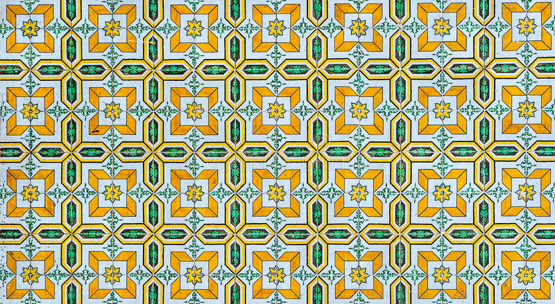 Vintage azulejos, traditional Portuguese tiles royalty free illustration