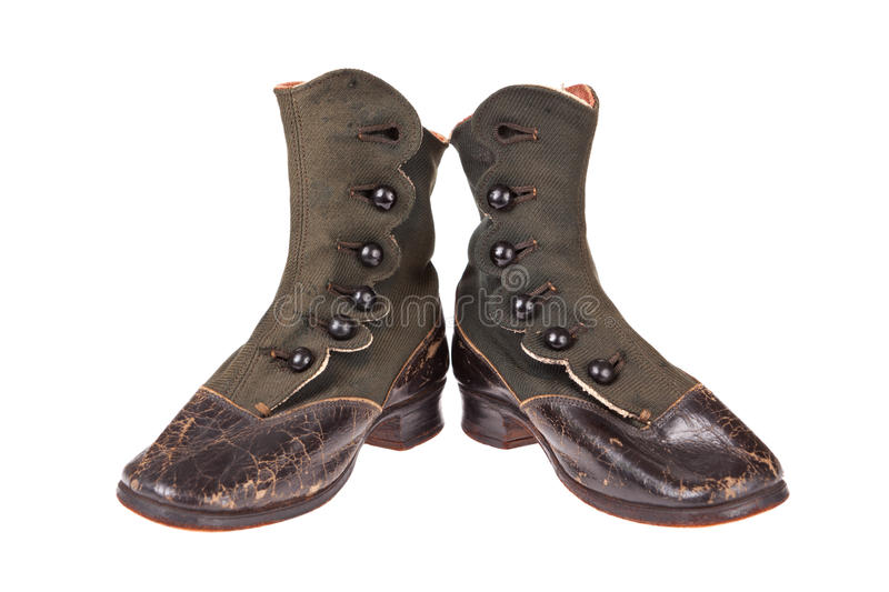 Vintage baby boots stock image