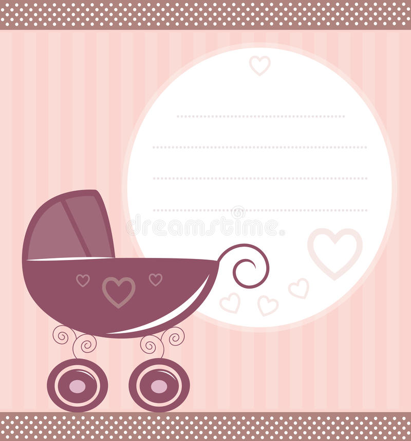 Vintage baby card vector illustration