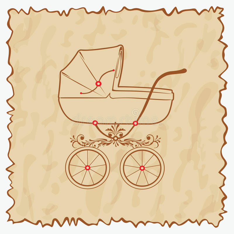 Vintage baby carriage.