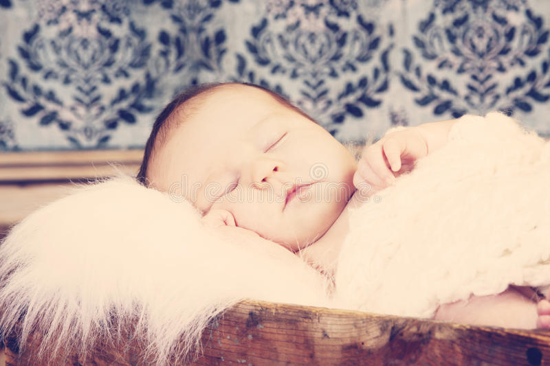 Download Vintage baby portrait stock image. Image of cozy, person - 17917961