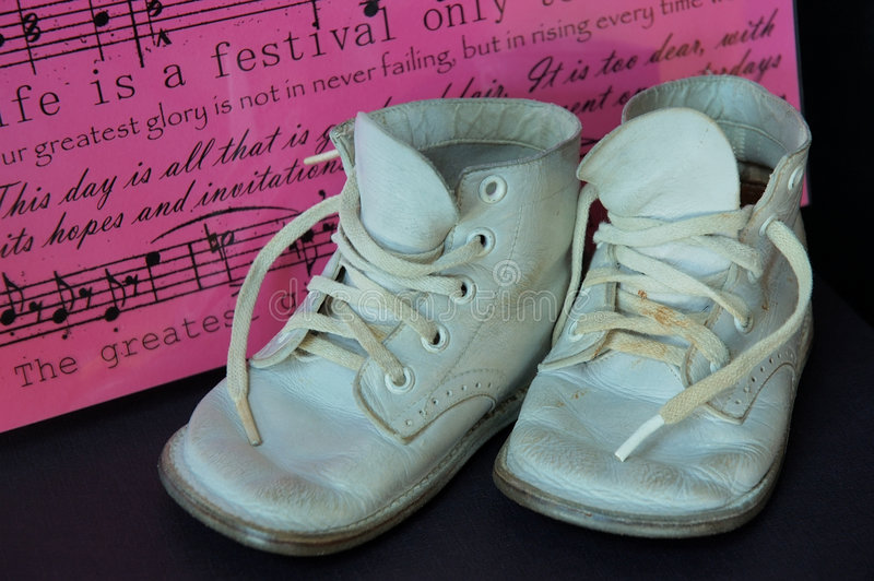 Download Vintage Baby Shoes stock image. Image of vintage, fashion - 267339