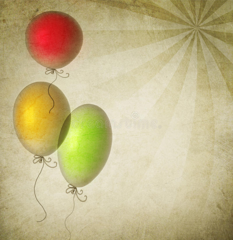 Vintage Background. Beautiful vintage Background with Balloons.Sepia toned royalty free illustration