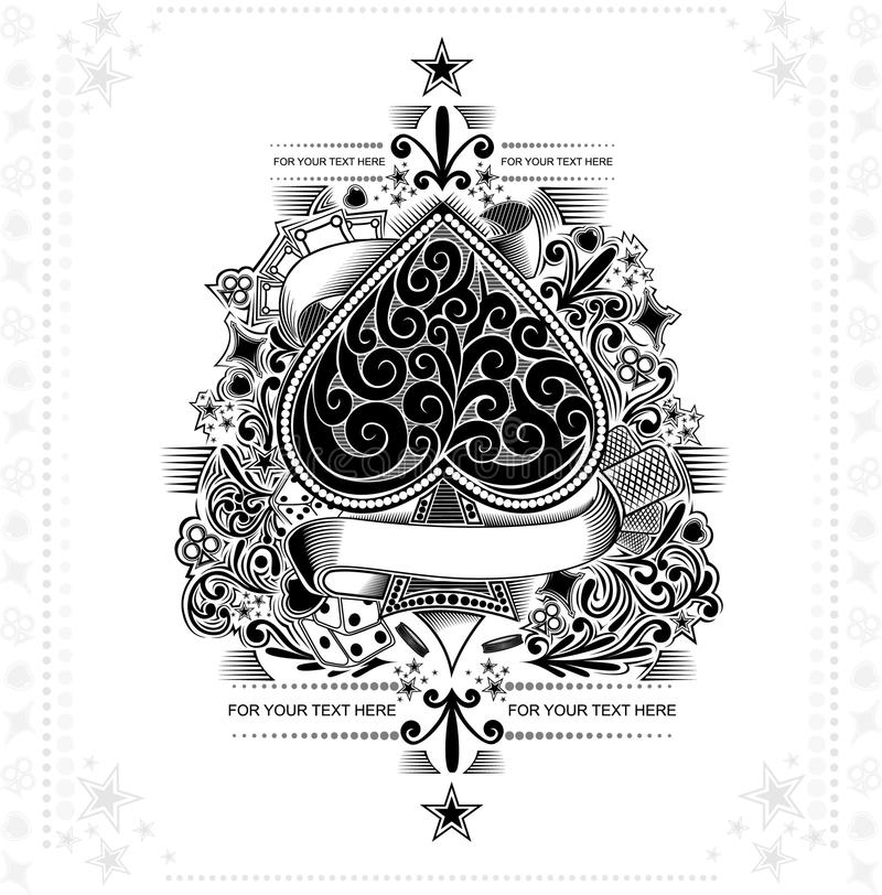 Free Vintage Background Ace Of Spades Stock Photos - 50884963