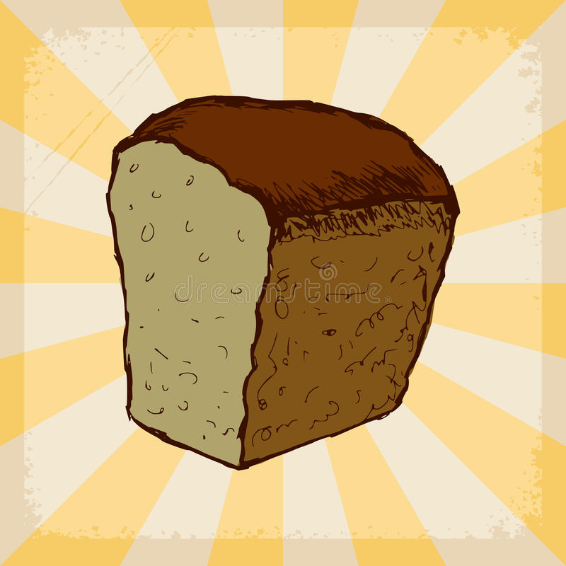 Vintage background with bread vector illustration
